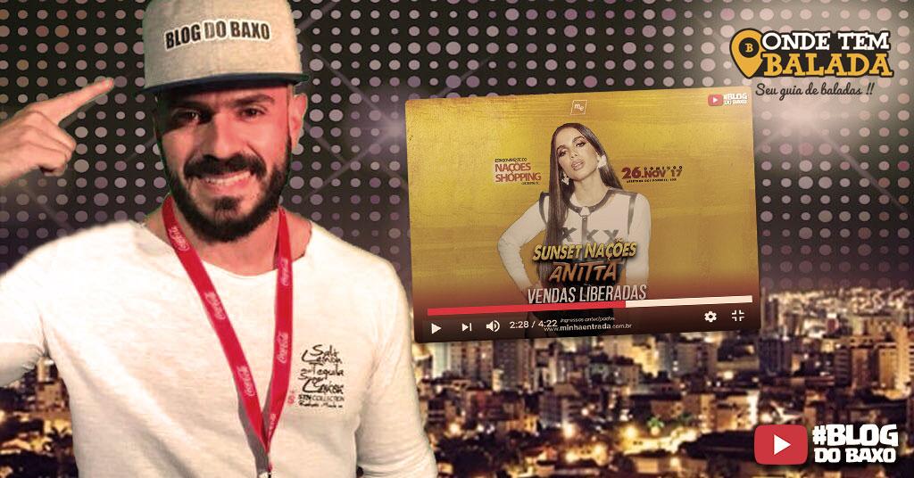 [Video] Blog do Baxo no show da Anitta em Criciuma