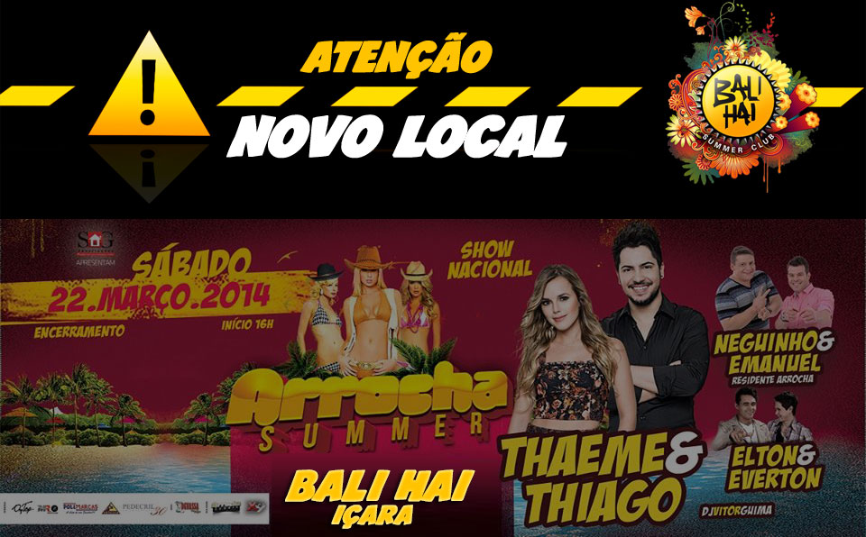 Arrocha Summer com novo Local e Horário