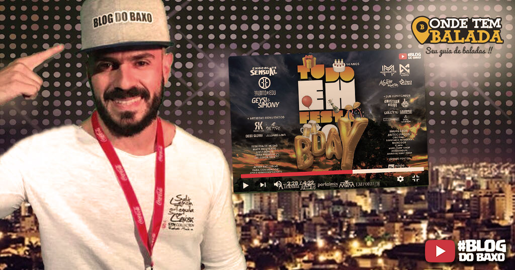 Blog do Baxo na festa de aniversário do site Tudo Eh Festa