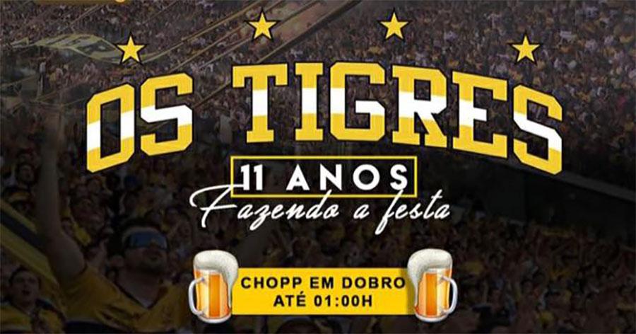 Torcida Os Tigres fará festa em comemoração aos 11 anos